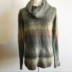 Axcess Earth Toned Cowl Turtleneck Knit Sweater
